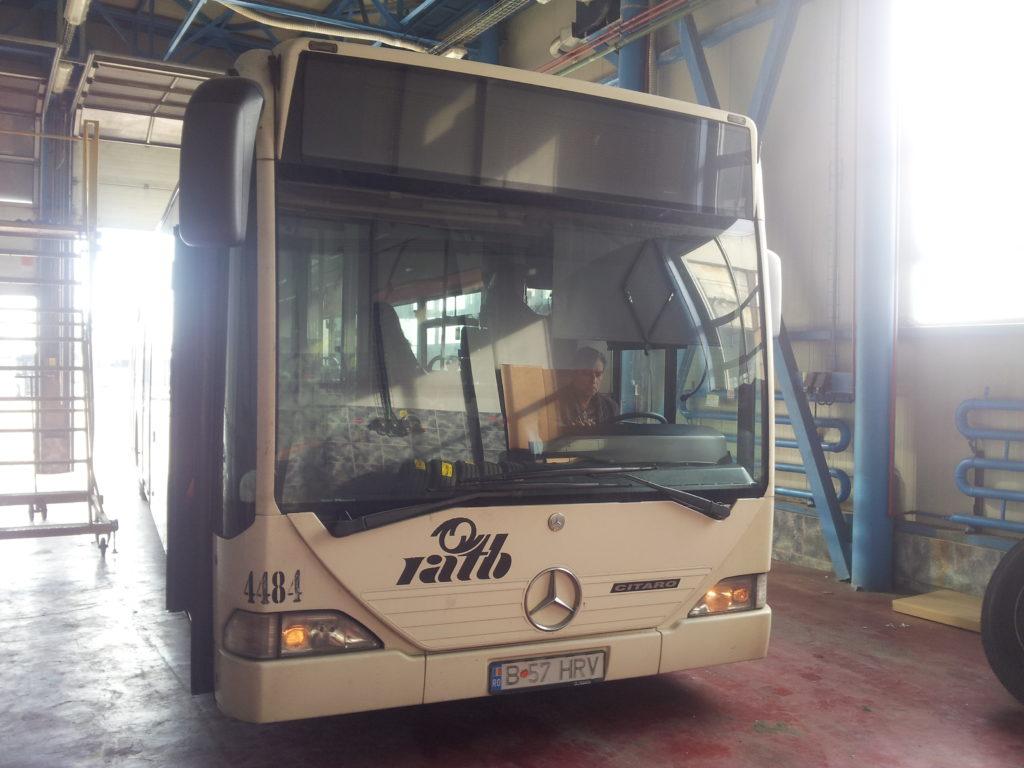 ブカレストのバスの車両